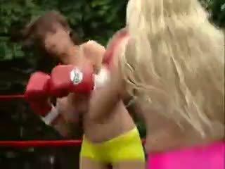 grote borsten, heetste lesbiennes actie, vol brunettes scène