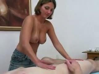 Massage parlor rub and tug
