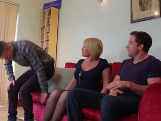 British Mom Sandwiched by Two Sons, Free Porn eb