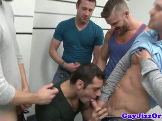 online groepsex scène, meer homo- vid, vers spier neuken