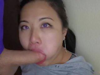 hq deepthroat, een slordig scène, facefuck neuken
