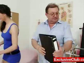 heet gapende film, plezier vagina, controleren dokter scène