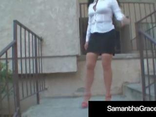 Up Skirt Girdle Masturbation With Bdsm Babe Samantha Grace!