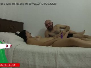 Sucks pussy and masturbates with a vibrator on the bed until he cums <span class=duration>- 27 min</span>