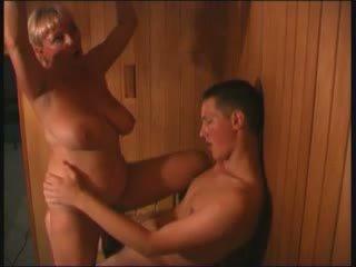 Russian in sauna