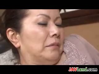 Dirty Japanese Granny Being Fingered
