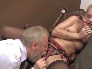 old thumbnail, check old+young action, most threesome mov