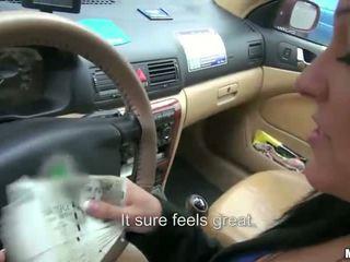 Lady driver Natali Blue banged for cash