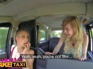 Lesbisch Fake Taxi Tribbing