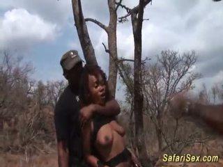 deepthroat, meest afrikaanse actie, vol bigcock