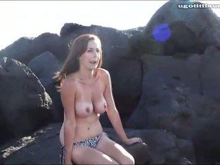 kwaliteit meisjes, vol strand vid, partij scène