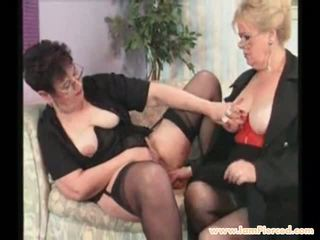 I Am Pierced Grannies Checking Each others Pussy...