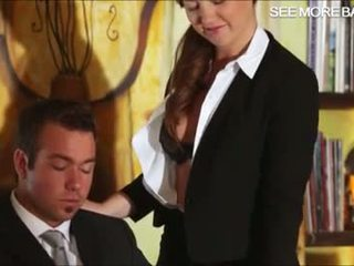 Lovely secretary Maddy fucking her boss