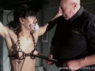 Hardcore bdsm and electric punishments of naughty