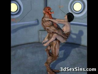 Creatures बकवास ३डी scifi लड़कियां!