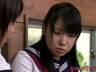 echt japanse klem, groot trio, ideaal aziatisch porno