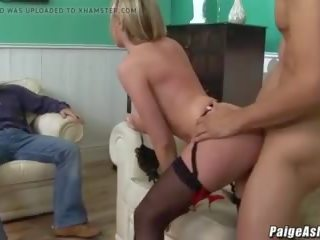 Paige Ashley Fucks Young Stud in Front of Cuckold Hubby