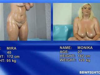 Bbw nude oil wrestling not