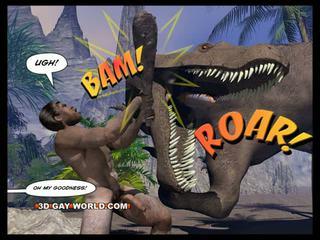 Cretaceous riist 3d gei koomik sci-fi seks jutt