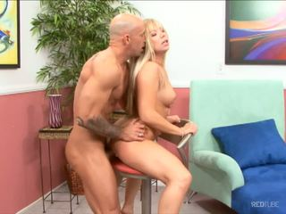 On the room with hot blond MILF