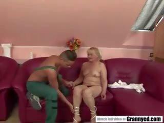 ideaal grannies scène, matures vid, meer oude + young kanaal