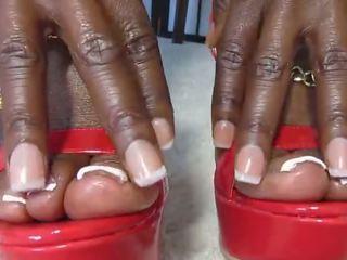black and ebony, foot fetish, femdom
