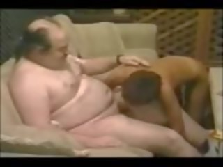 Sharon Mitchell Sucks an Ugly Fat Man, Porn 8d