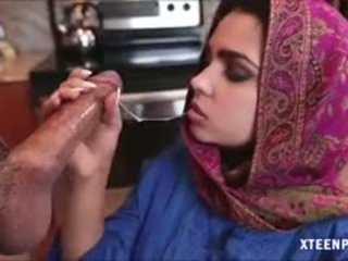 Middle eastern rumaja ada gives head and gets ripped hard