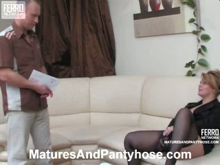 Paulina Adrian Mature Pantyhose Action