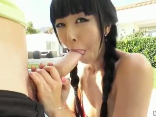 Asian slut tries out anal sex on camera