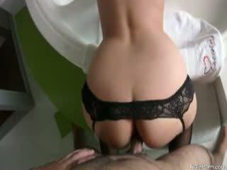 anaal vid, ideaal ezel scène, groot nylon neuken