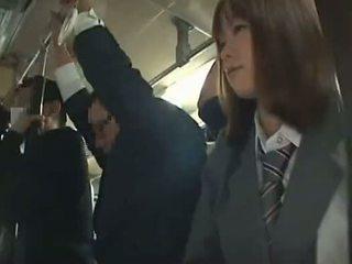 Schoolgirl forced blowjob in Bus