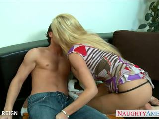 Chesty blonda tasha reign gets facialized