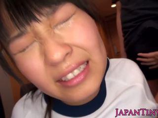 bruneta, orální sex, stříkání, japonec