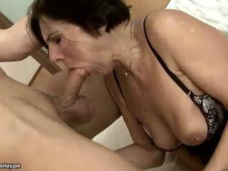 Hot hairy granny getting fucked pretty hard
