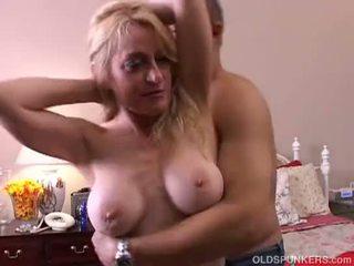 Kinky old spunker gives a sloppy rimjob and gets a sticky facial