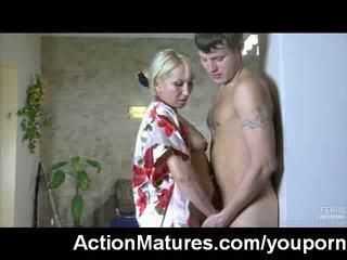 Hot mature MILF caught masturbating