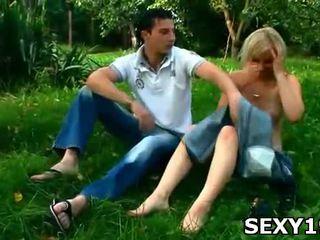 seks in de buitenlucht neuken, plezier buiten-, kijken naakt outdoors scène