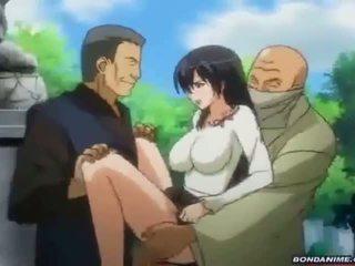 Schoolgirl takes a nasty threesome