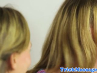 Bigtitted Massage Babe Facesitting in Trio: Free HD Porn 10