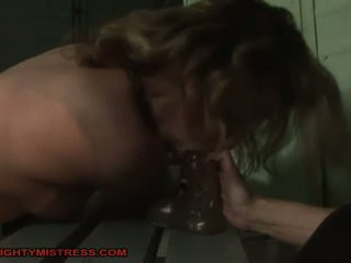 Horrid mistress dominating hot girl
