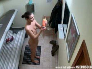 ideaal brunette actie, heet voyeur video-, kindje