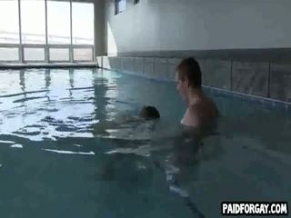 Straight hunk gets paid to get fucked anally underwater