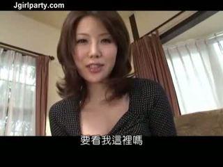 briunetė, oralinis seksas, japonijos, makšties masturbacija
