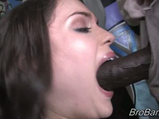 Charlotte Vale gets bukkaked by ten blacks