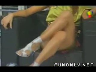 Upskirt Competition On Tv Video