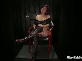Chubby Latina swallows loads of cum