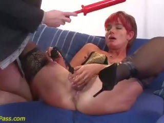 double penetration, redhead, anal