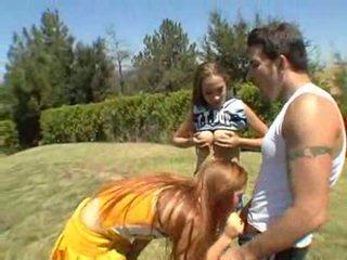 Jamie elle και ashley are μερικοί freaky κώλος cheerleaders