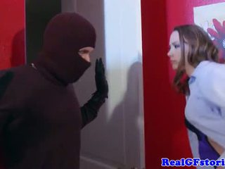 Housewife assfucked by a midnight burglar